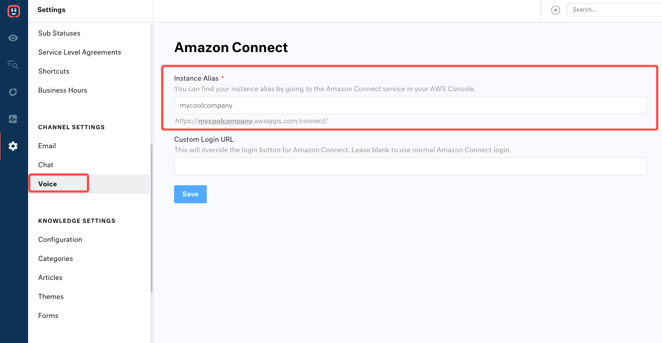 Integrate Voice with Amazon Connect